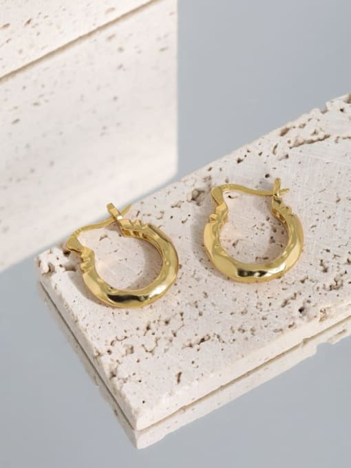 DAKA 925 Sterling Silver Hollow Geometric Vintage Huggie Earring 4