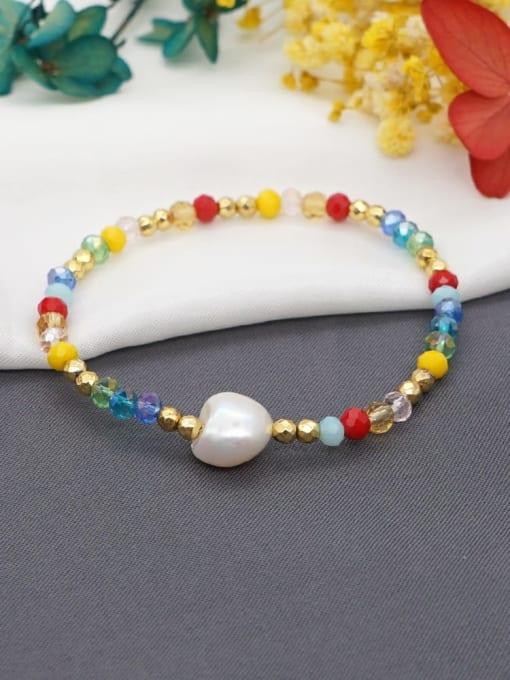 Roxi Stainless steel Bead Multi Color Round Minimalist Beaded Bracelet 2
