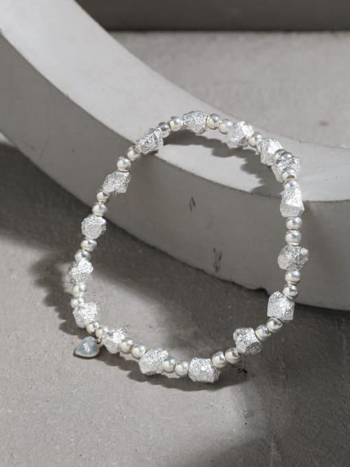 DAKA 925 Sterling Silver Geometric Vintage Beaded Bracelet 1
