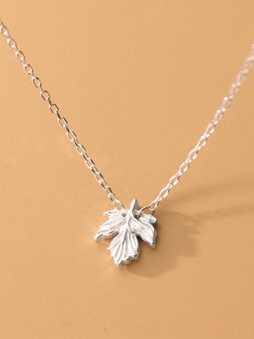 Rosh 925 Sterling Silver Leaf Minimalist Necklace 1