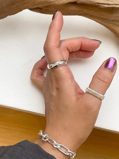 Boomer Cat 925 Sterling Silver Geometric Minimalist Band Ring 3