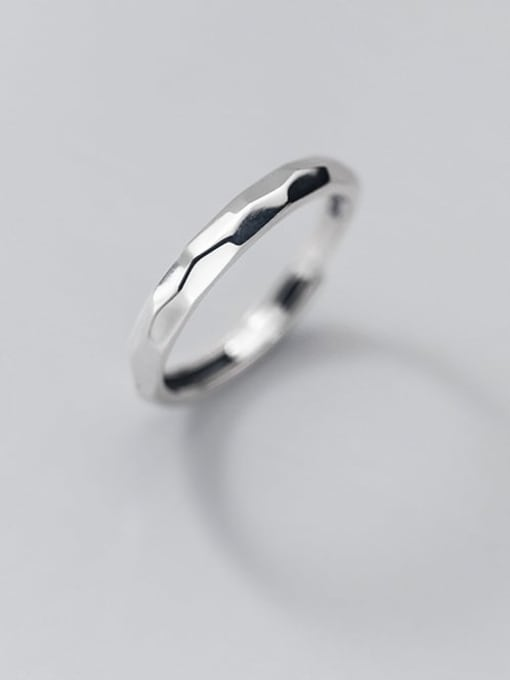 Rosh 925 Sterling Silver Round Minimalist Band Ring