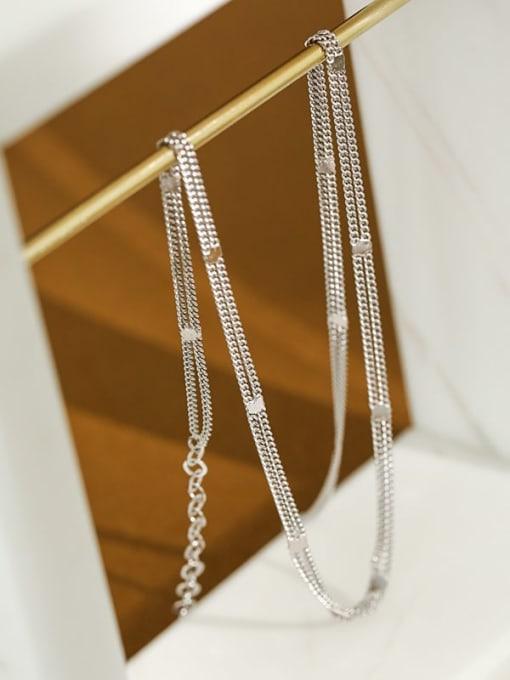 Dak Phoenix 925 Sterling Silver Irregular Minimalist Multi Strand Necklace 1