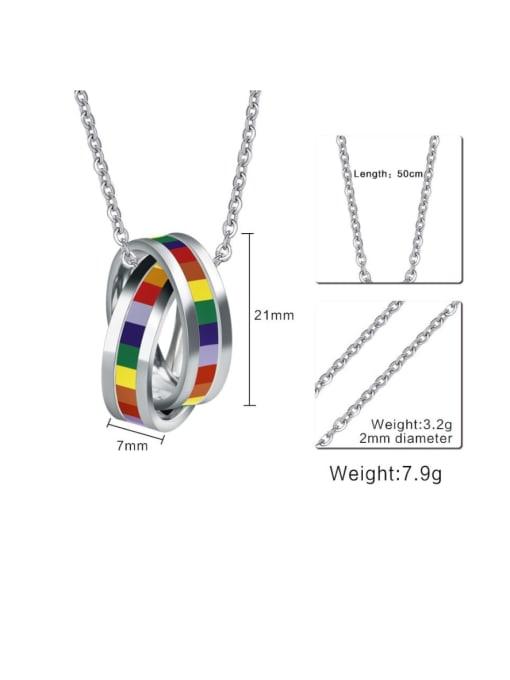 CONG Stainless steel Enamel Geometric Minimalist Necklace 1