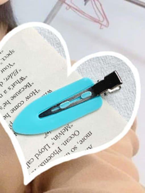 Blue single pack Alloy Enamel Minimalist Irregular  Multi Color Hair Barrette