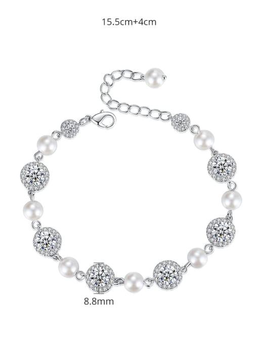 BLING SU Brass Cubic Zirconia Geometric Luxury Bracelet 3