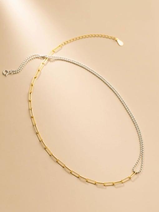 Rosh 925 Sterling Silver Asymmetry Geometric Minimalist Multi Strand Necklace