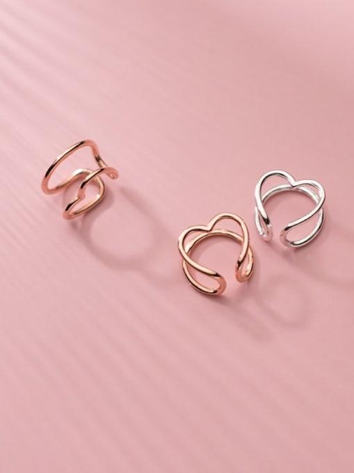 Rosh 925 Sterling Silver Heart Minimalist Clip Earring