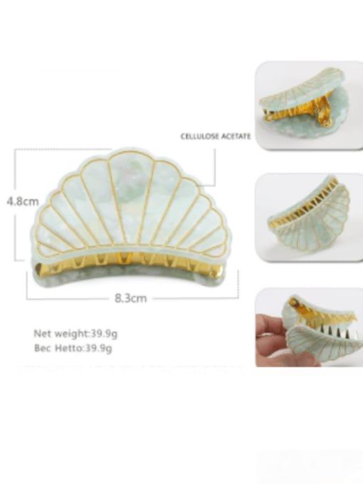 Green trumpet Cellulose Acetate Minimalist Geometric Zinc Alloy Jaw Hair Claw