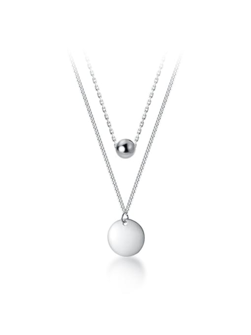 Rosh 925 Sterling Silver Round Minimalist Multi Strand Necklace