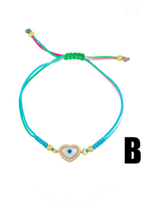 CC Brass Enamel Evil Eye Bohemia Adjustable Bracelet 2