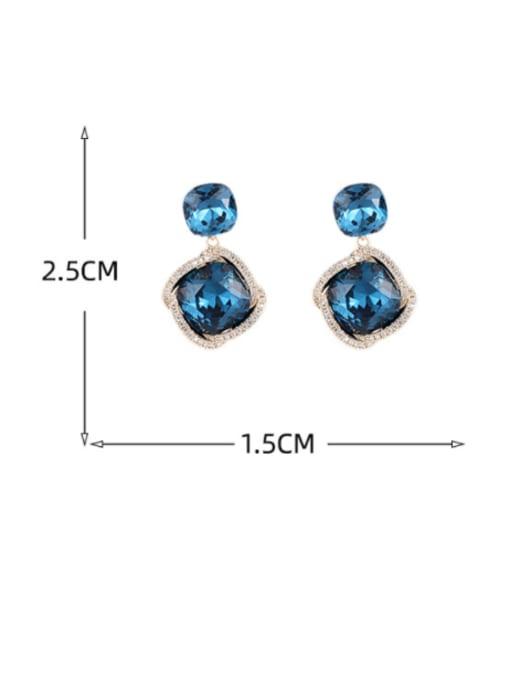 Luxu Brass Cubic Zirconia Geometric Dainty Drop Earring 3