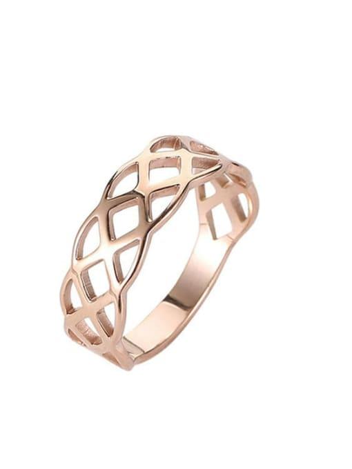 MIYA Titanium Steel Geometric Hip Hop Band Ring 2