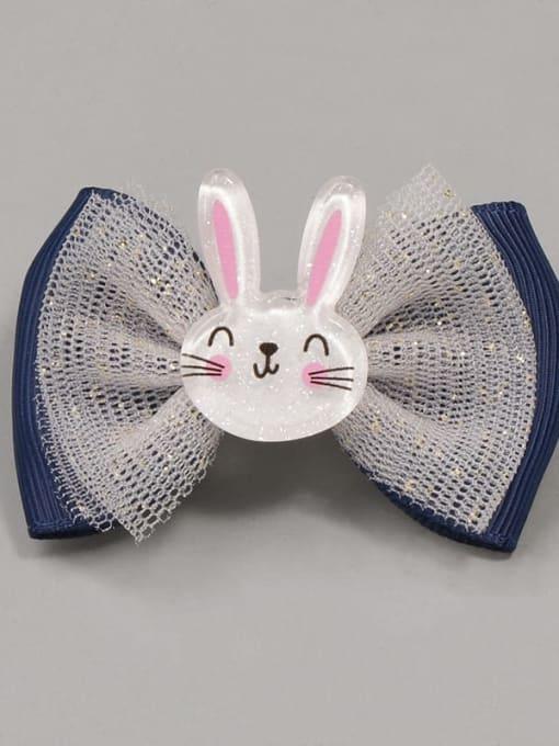 10 wonderful little rabbit Alloy Yarn Cute Bowknot  Multi Color Hair Barrette