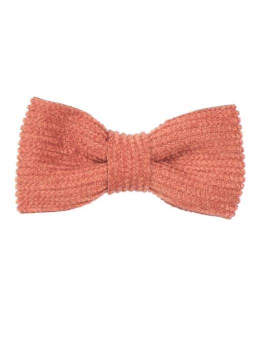2 Caramel Alloy Fabric Cute Bowknot  Multi Color Hair Barrette