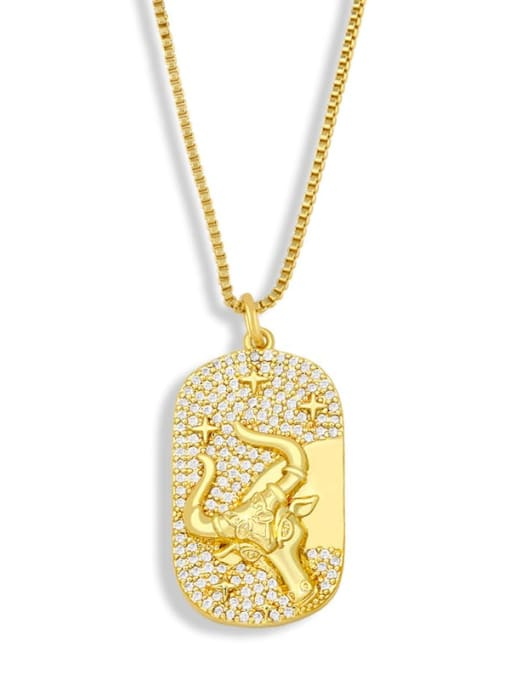CC Brass Cubic Zirconia Cross Hip Hop Necklace 2