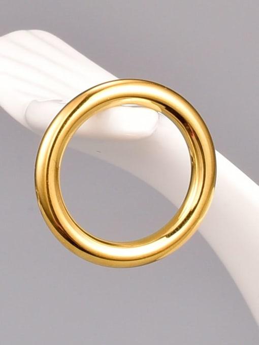 A TEEM Titanium Steel Smooth Round Minimalist Band Ring 1