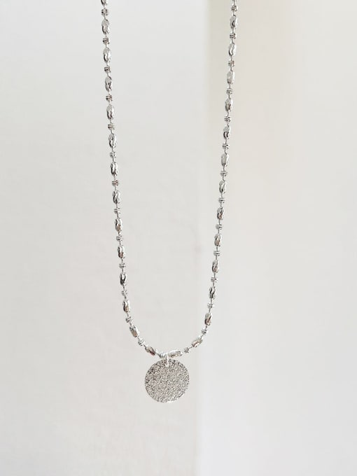 Boomer Cat 925 Sterling Silver Round Minimalist Bead Chain Necklace 2