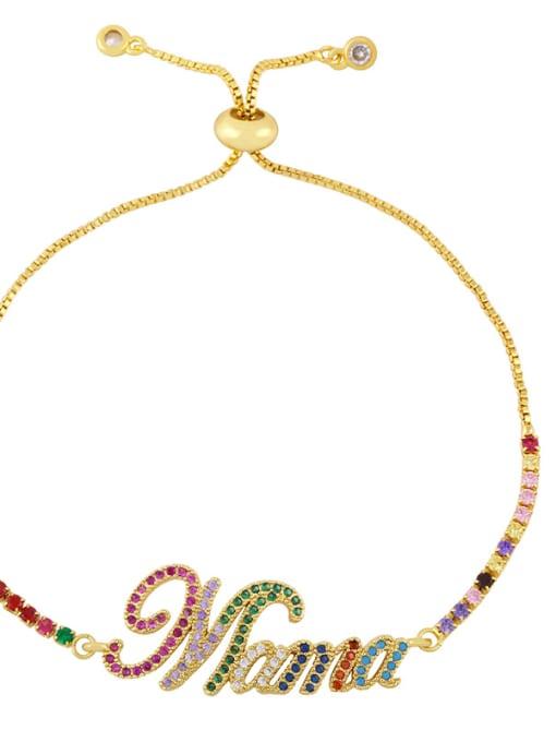 C Brass Cubic Zirconia Letter Vintage Woven Bracelet