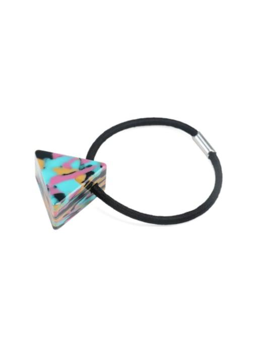 Dazzling color Cellulose Acetate Minimalist Triangle Multi Color Hair Rope