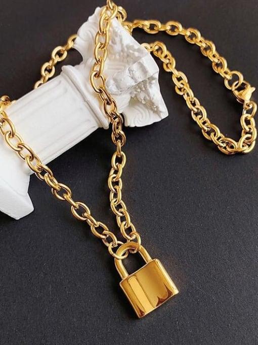 A TEEM Titanium Locket Vintage Hollow Chain Necklace 2