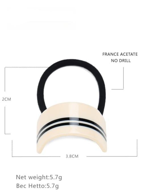 white Cellulose Acetate Minimalist Geometric Hair Rope
