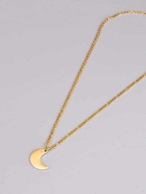 A TEEM Titanium Steel Moon Minimalist Necklace 3