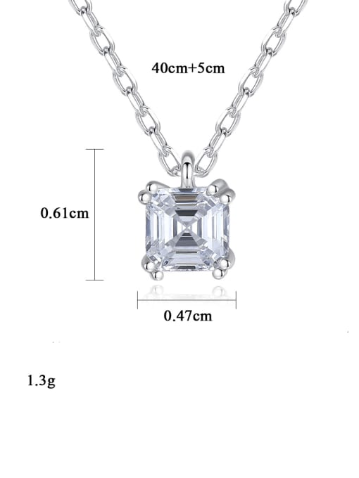 CCUI 925 Sterling Silver Cubic Zirconia Geometric Minimalist pendant Necklace 4