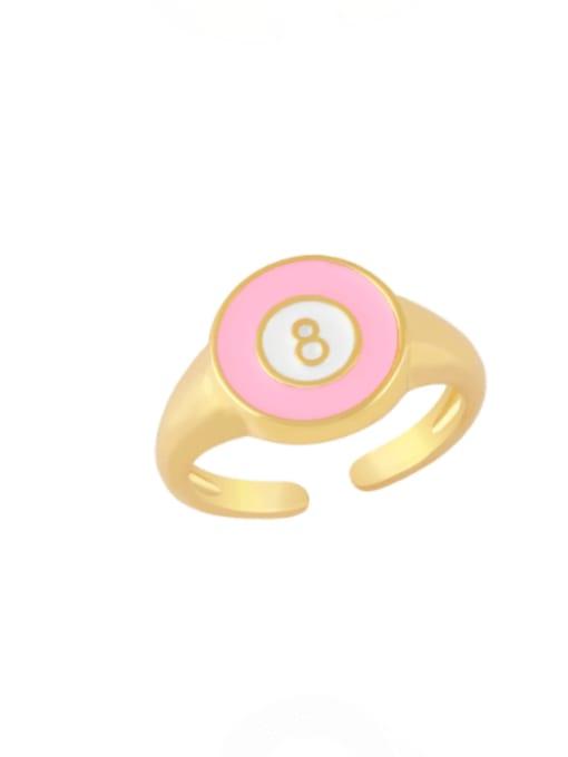 CC Brass Enamel Geometric Minimalist Band Ring 2