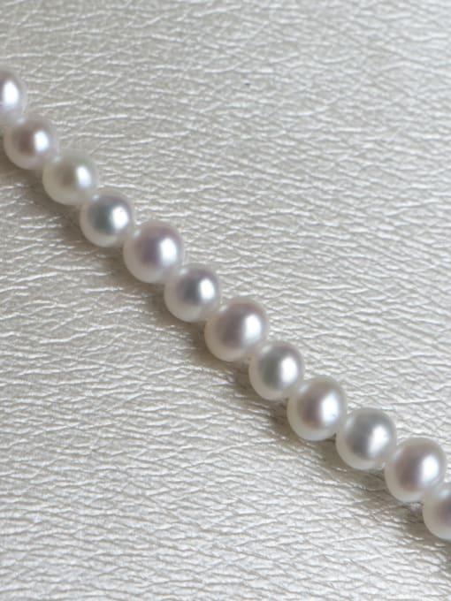 RAIN Brass Freshwater Pearl Round Minimalist Necklace 4