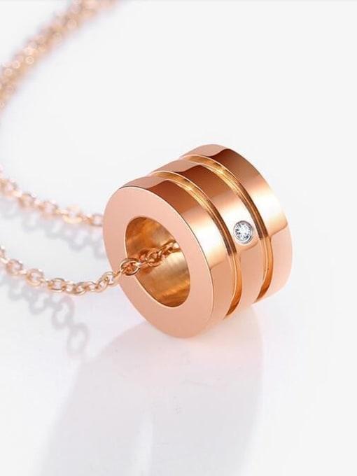 A TEEM Titanium Rhinestone Heart Minimalist Pendant Necklace