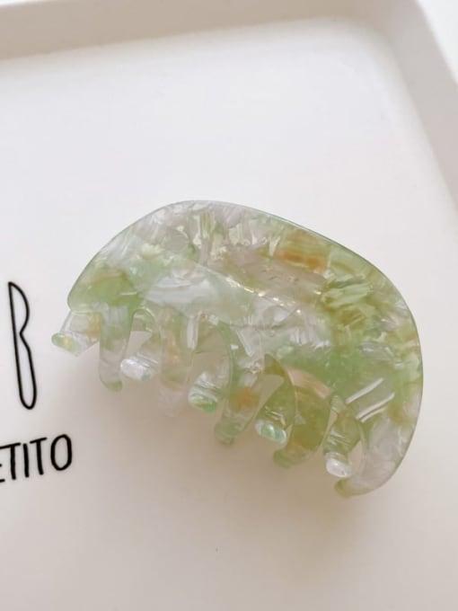 Green 8cm Cellulose Acetate Minimalist Geometric Jaw Hair Claw