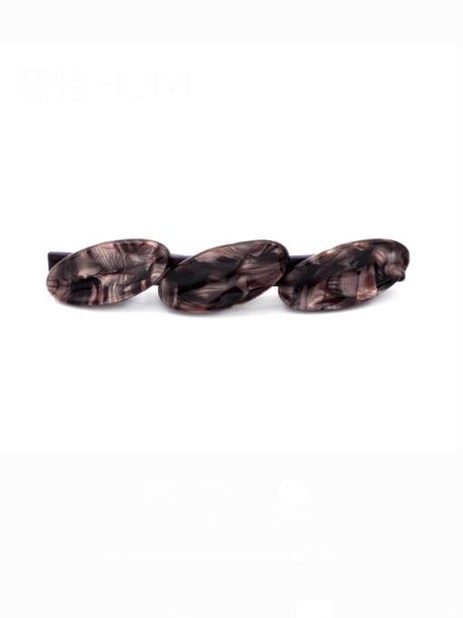 Grayish purple Cellulose Acetate Minimalist Geometric Zinc Alloy Hair Barrette