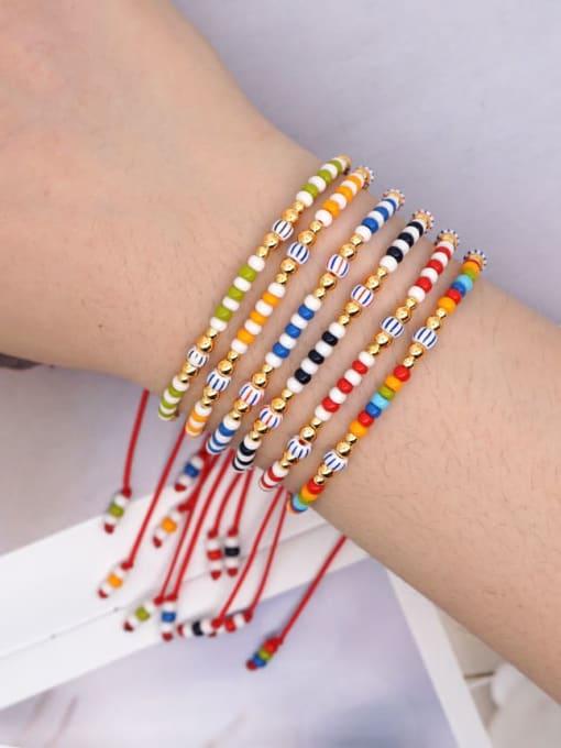 Roxi Stainless steel Miyuki beads Multi Color Geometric Bohemia Adjustable Bracelet 1