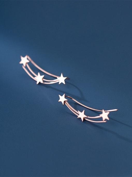 Rosh 925 Sterling Silver Star Minimalist Stud Earring 1