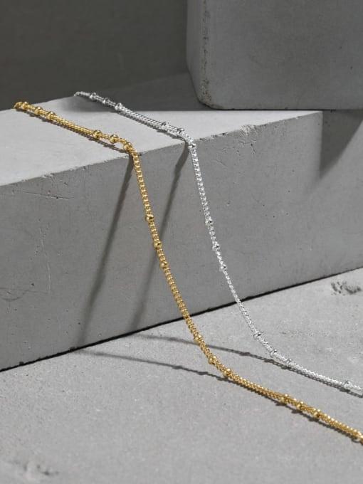 DAKA 925 Sterling Silver Irregular Minimalist Link Bracelet 1