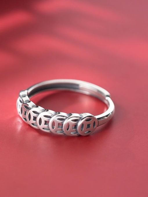 Rosh 925 Sterling Silver Round Vintage Band Ring 2