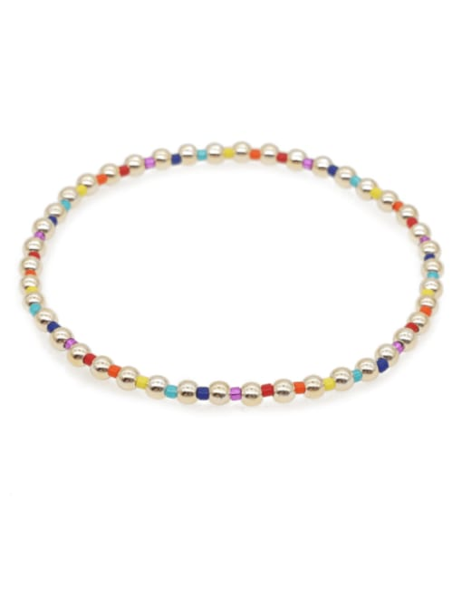 Roxi Stainless steel Bead Round Bohemia Beaded Bracelet 0