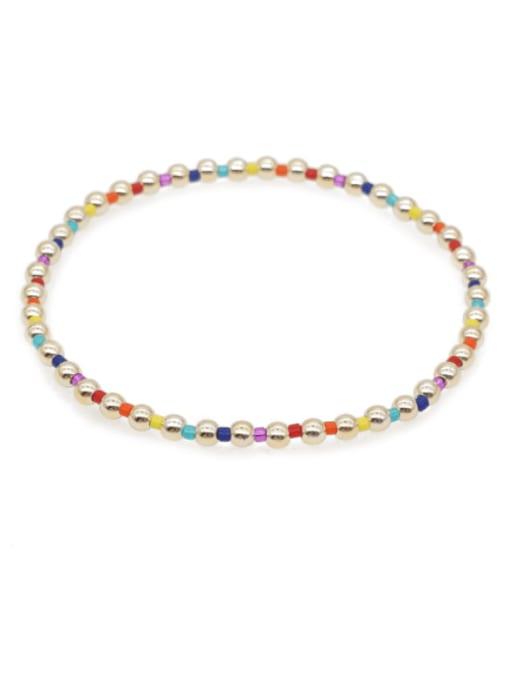 Roxi Stainless steel Bead Round Bohemia Beaded Bracelet