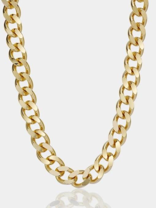 A TEEM Titanium Steel Irregular Vintage Hollow Chain Necklace 0