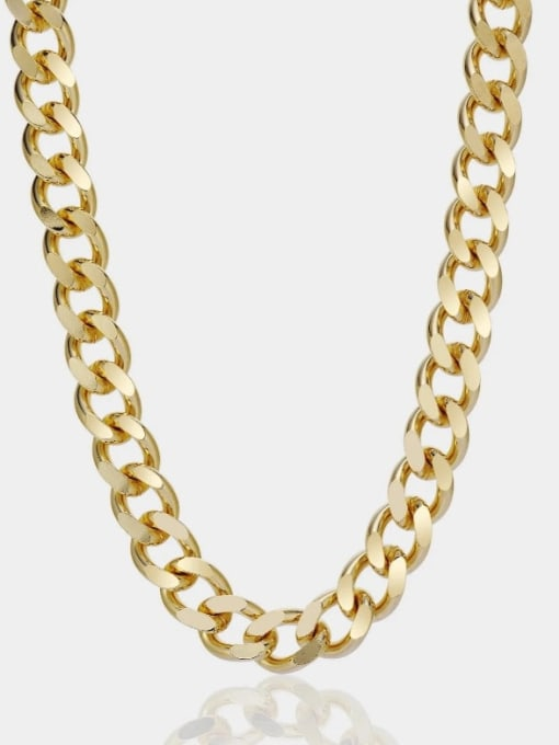 A TEEM Titanium Steel Irregular Vintage Hollow Chain Necklace