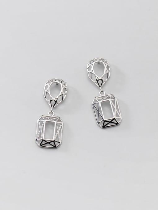 Rosh 925 Sterling Silver Hollow Geometric Vintage Drop Earring 4