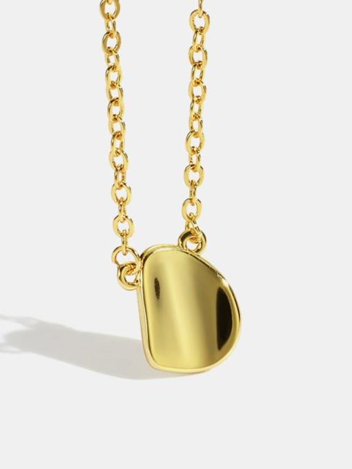 CHARME Brass Smooth Irregular Minimalist Necklace 0