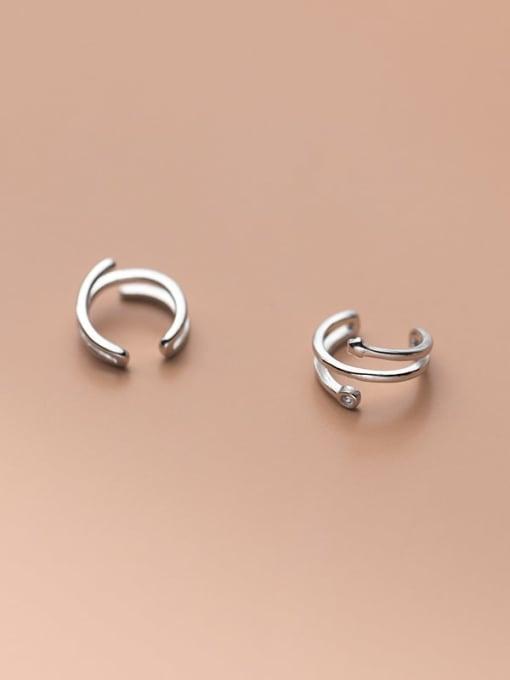 Rosh 925 Sterling Silver Geometric Minimalist Clip Earring 3
