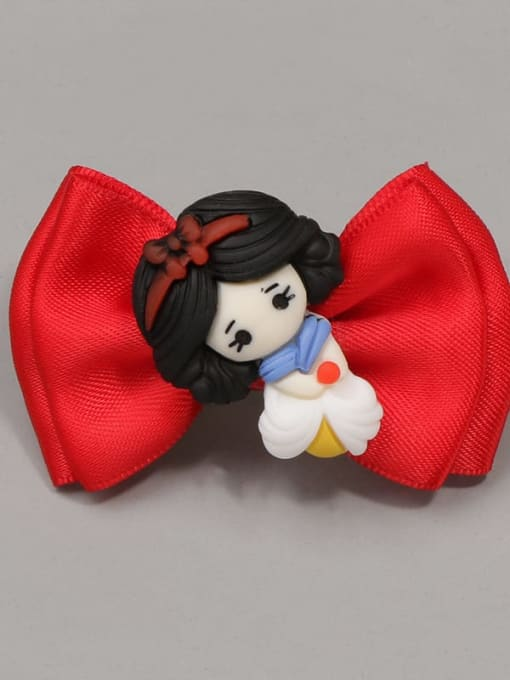 4 lovely little princess Alloy Yarn Cute Bowknot  Multi Color Hair Barrette