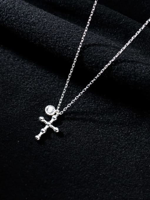 Rosh 925 Sterling Silver Cross Minimalist Regligious Necklace 2
