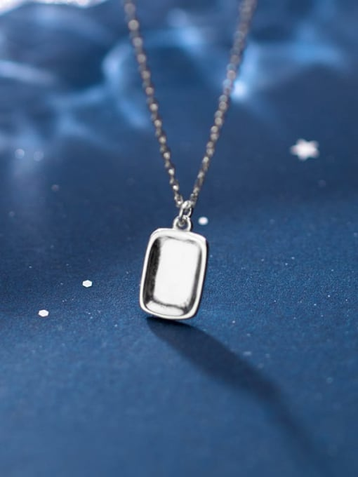 Rosh 925 Sterling Silver Geometric Minimalist Necklace 2