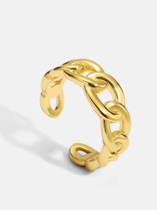 CHARME Brass Hollow Geometric Minimalist Band Ring 0
