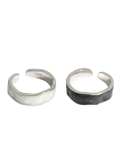 DAKA 925 Sterling Silver Enamel Round Vintage Band Ring 4