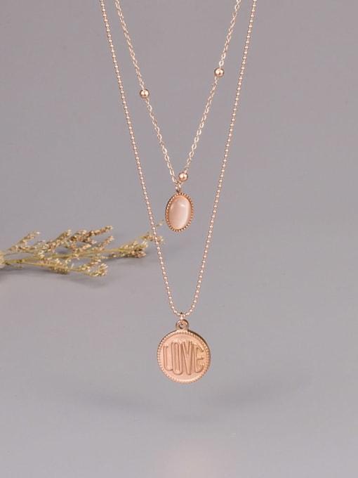 A TEEM Titanium Steel Round Minimalist Multi Strand Necklace